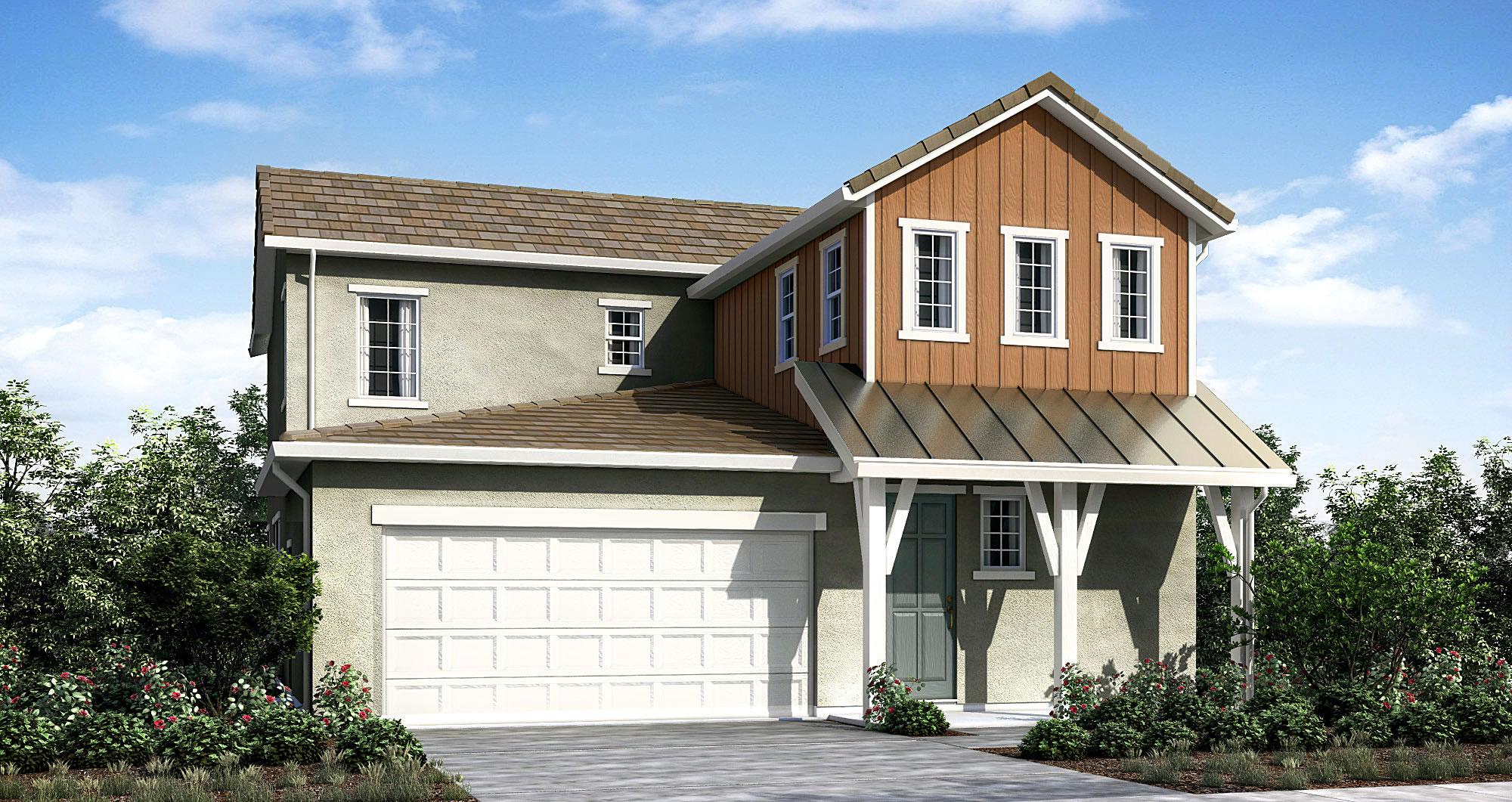 Plan 1 Model 3 bedroom 3 bath new home in Elk Grove CA