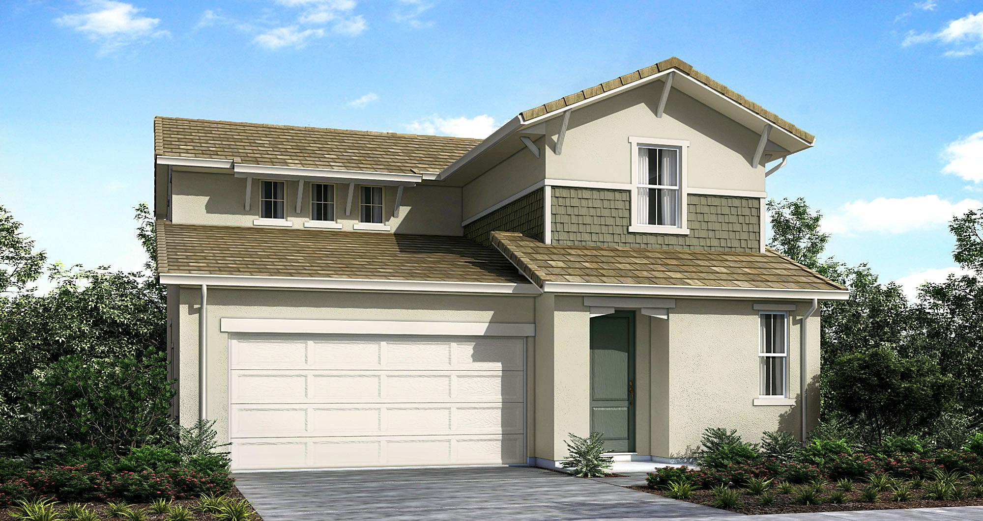 Plan 2 Model 3 bedroom 2 5 bath new home in Elk Grove CA