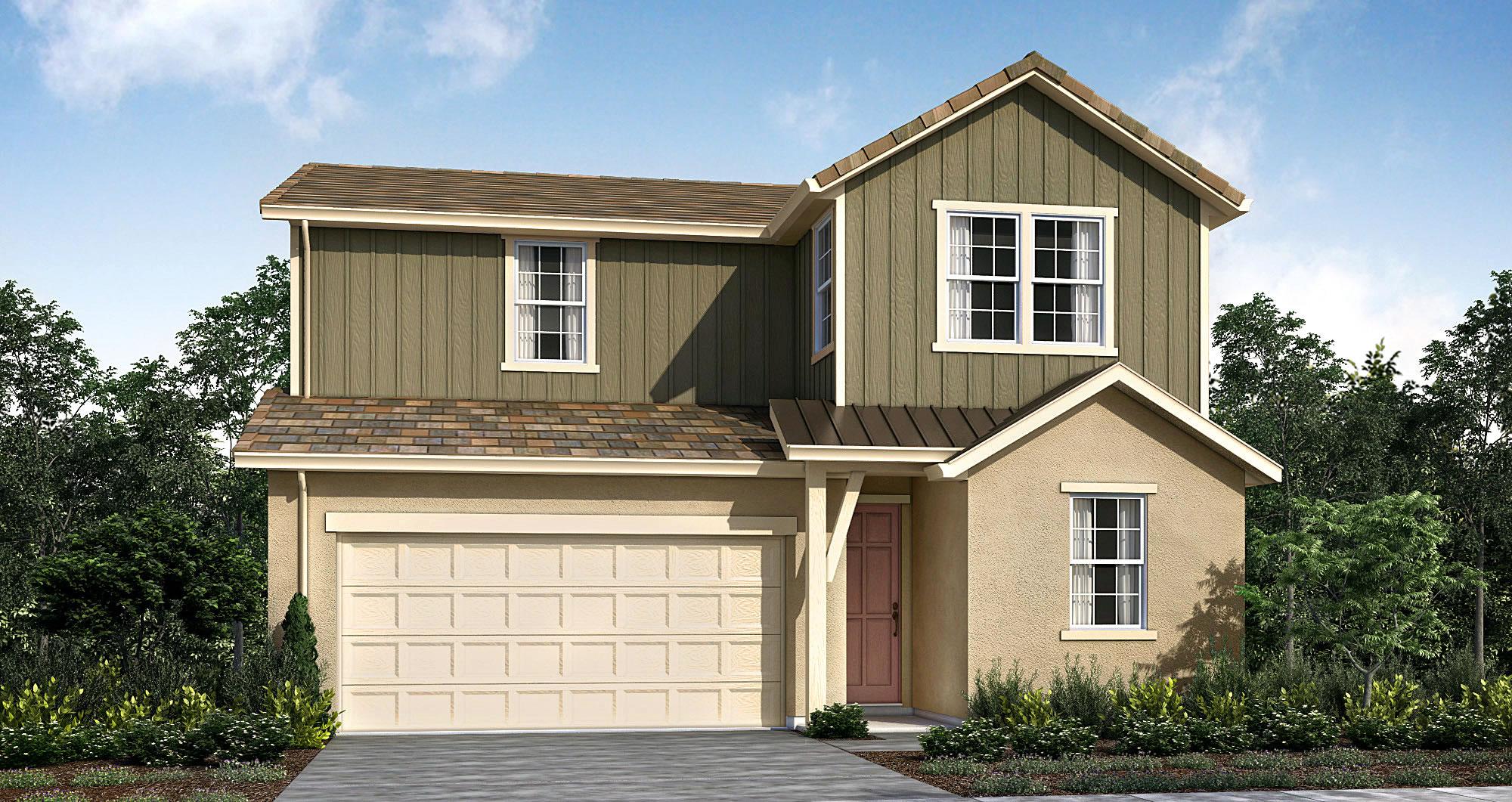 Plan 3 Model 4 bedroom 3 bath new home in Elk Grove CA